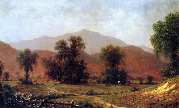 Martin Johnson Heade White Mountain Landscape, Mount Washington - Canvas Art Print