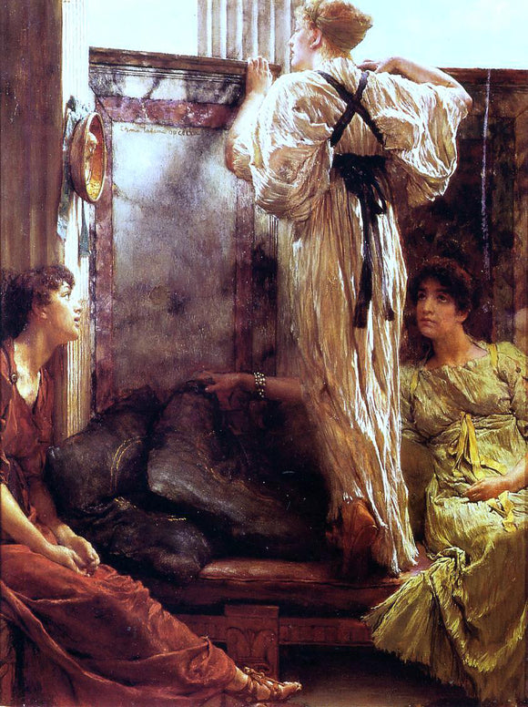Sir Lawrence Alma-Tadema Who is It? - Canvas Art Print