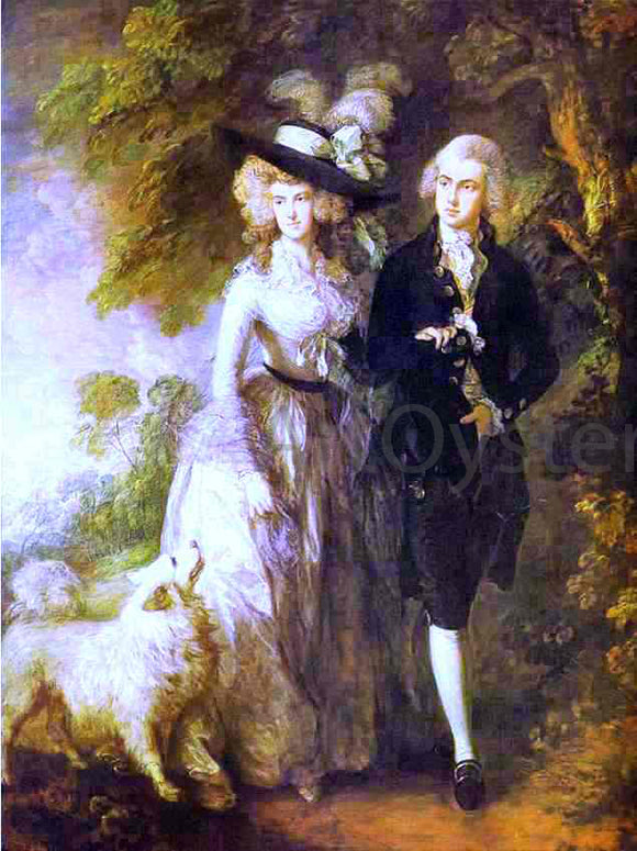 Thomas Gainsborough William Hallett and His Wife Elizabeth, Nee Stephen - Canvas Art Print
