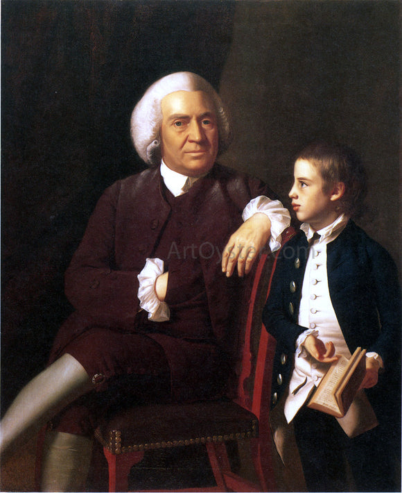 John Singleton Copley William Vassall and His Son Leonard - Canvas Art Print