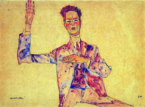 Egon Schiele Willy Lidl - Canvas Art Print