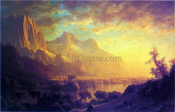 Albert Bierstadt Wind River, Wyoming - Canvas Art Print