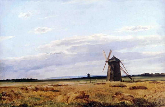 Ivan Ivanovich Shishkin Windmill afield - Canvas Art Print