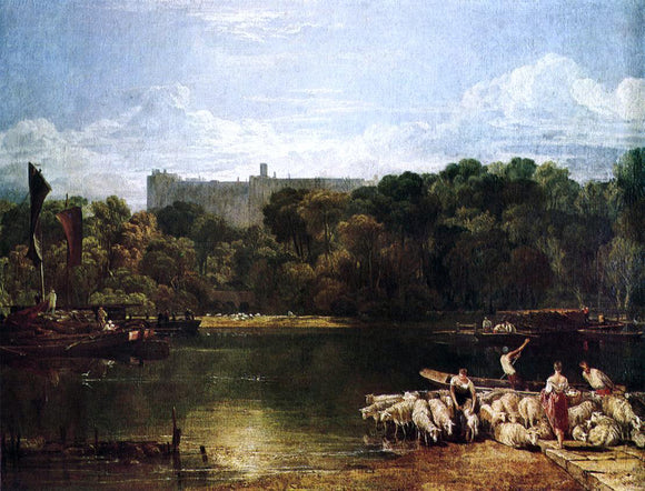 Joseph William Turner Windsor Castle from the Thames - Canvas Art Print