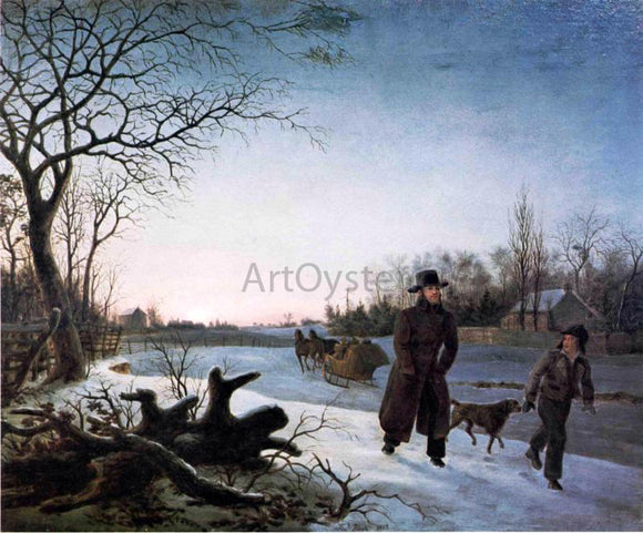 Thomas Birch Winter - Canvas Art Print