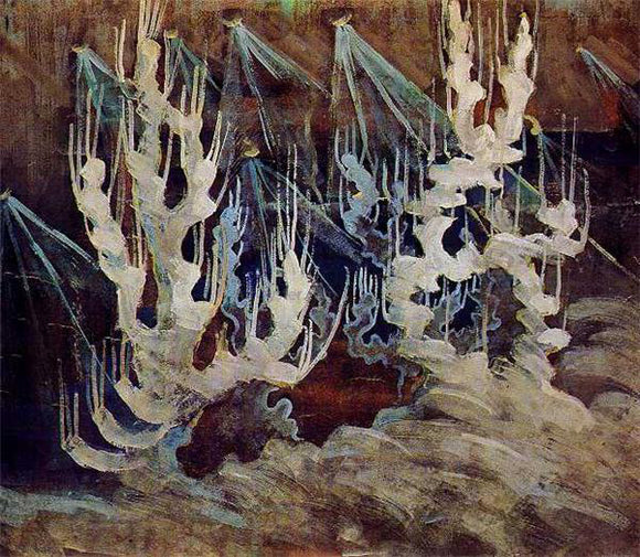 Mikalojus Ciurlionis Winter II - Canvas Art Print