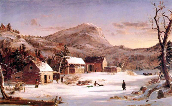 Jasper Francis Cropsey Winter in the Rockies - Canvas Art Print