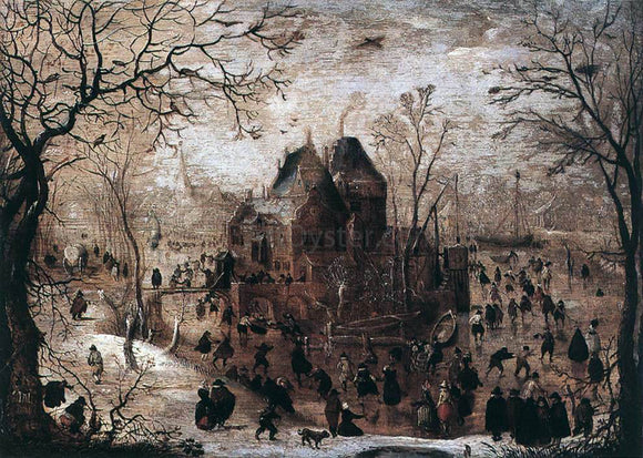 Hendrick Avercamp Winter Landscape - Canvas Art Print
