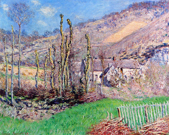 Claude Oscar Monet Winter Landscape at the Val de Falaise - Canvas Art Print