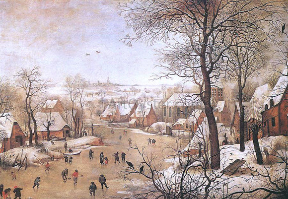 The Younger Pieter Brueghel Winter Landscape with a Bird-trap - Canvas Art Print