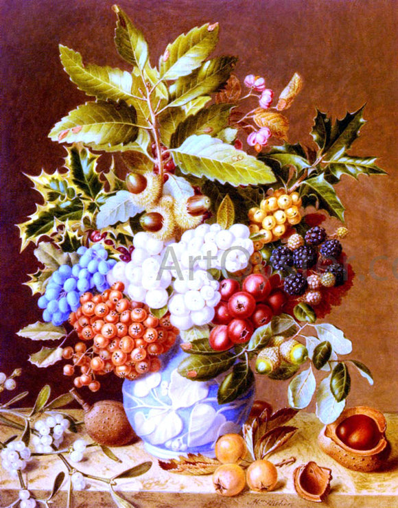 Augusta Innes Withers Winter Still Life - Canvas Art Print