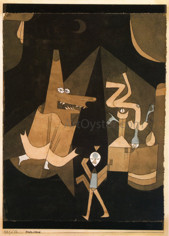 Paul Klee Witch Scene - Canvas Art Print