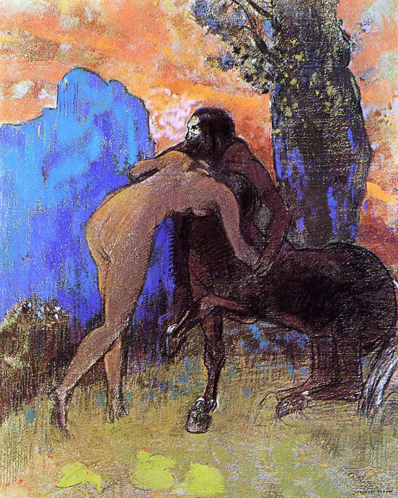 Odilon Redon Woman and Centaur - Canvas Art Print