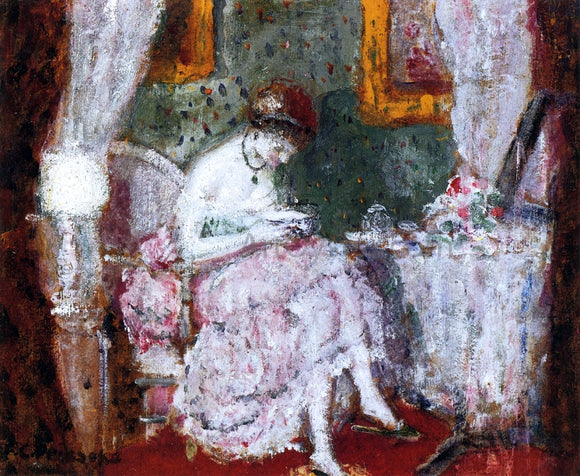 Frederick Carl Frieseke A Woman at a Dressing Table - Canvas Art Print