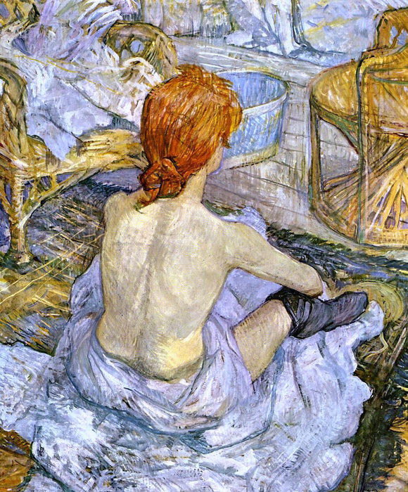 Henri De Toulouse-Lautrec A Woman at Her Toilette - Canvas Art Print