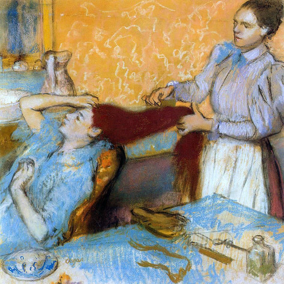 Edgar Degas Woman Having Her Hair Combed - Canvas Art Print