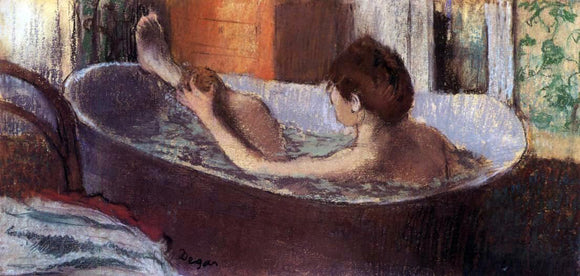 Edgar Degas Woman in a Bath Sponging Her Leg - Canvas Art Print