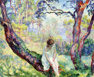 Henri Lebasque A Woman in a Landscape - Canvas Art Print