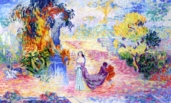Henri Edmond Cross Woman in a Park - Canvas Art Print