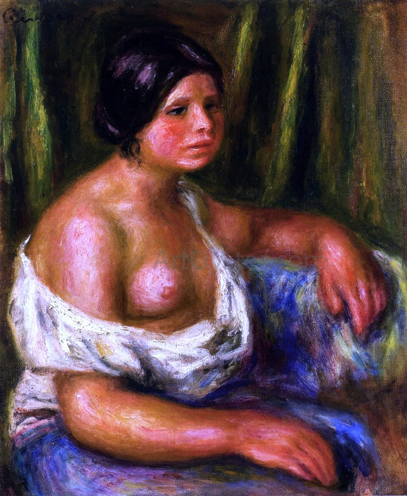 Pierre Auguste Renoir Woman in Blue - Canvas Art Print