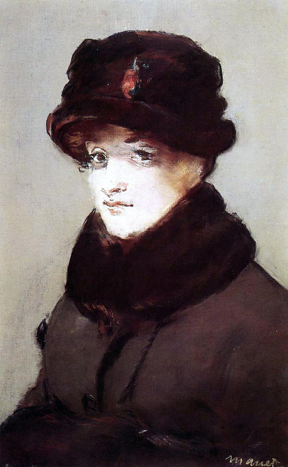 Edouard Manet Woman in Furs, Portrait of Mery Laurent - Canvas Art Print