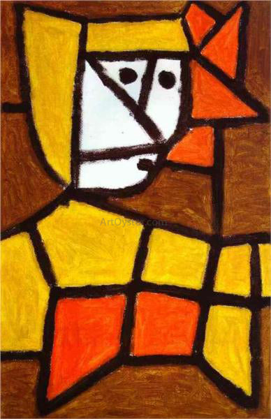 Paul Klee Woman in Peasant Dress - Canvas Art Print