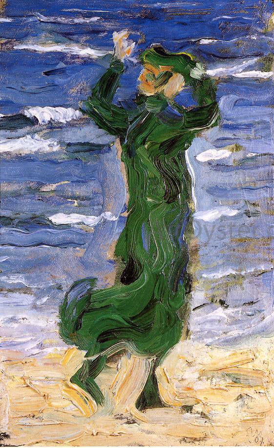 Franz Marc Woman in the Wind by the Sea - Canvas Art Print