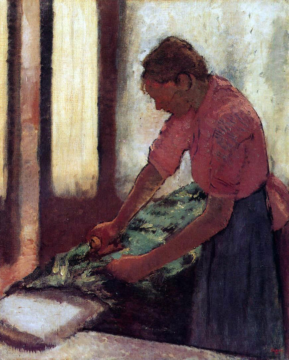 Edgar Degas Woman Ironing - Canvas Art Print