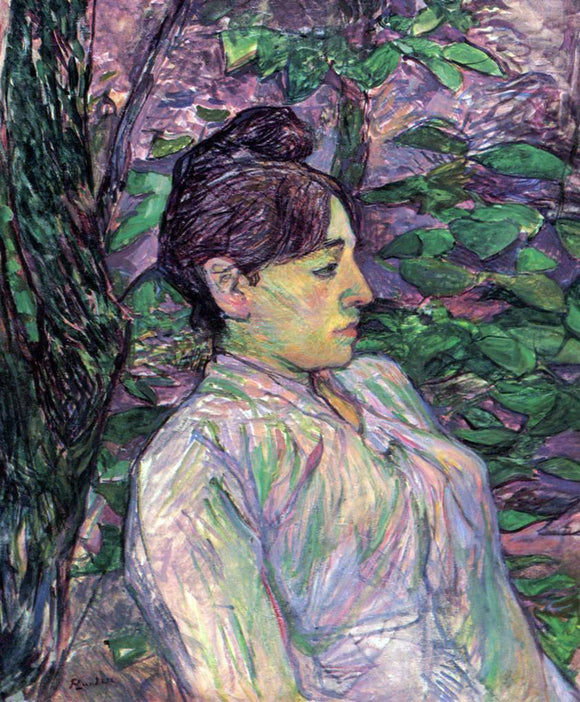 Henri De Toulouse-Lautrec Woman Seated in a Garden - Canvas Art Print