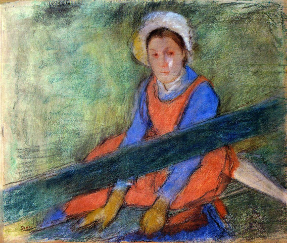Edgar Degas Woman Seated on a Bench - Canvas Art Print