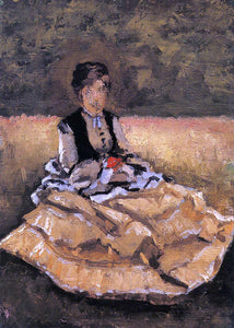 Gustave Caillebotte Woman Seated on the Grass (fragment) - Canvas Art Print