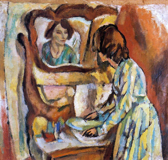 Jules Pascin Woman Washing Herself - Canvas Art Print