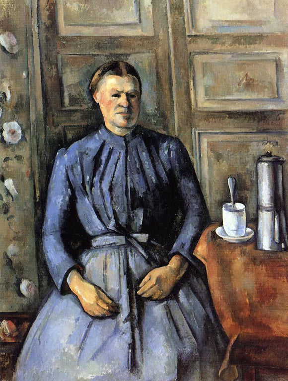 Paul Cezanne Woman with a Coffeepot - Canvas Art Print