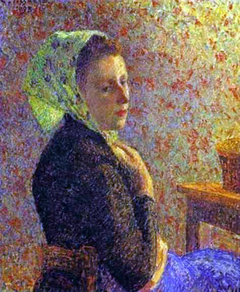 Camille Pissarro Woman with a Green Scarf - Canvas Art Print