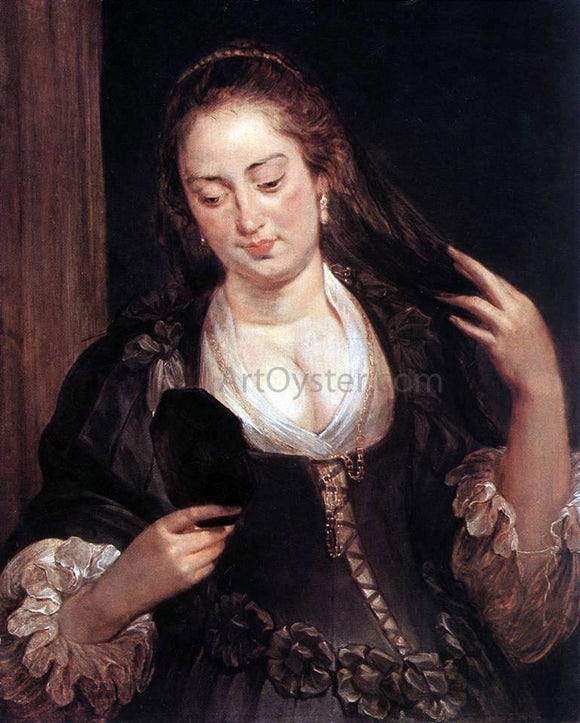 Peter Paul Rubens Woman with a Mirror - Canvas Art Print