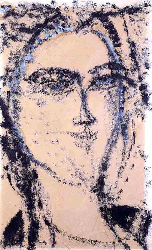 Amedeo Modigliani Woman's Head - Canvas Art Print