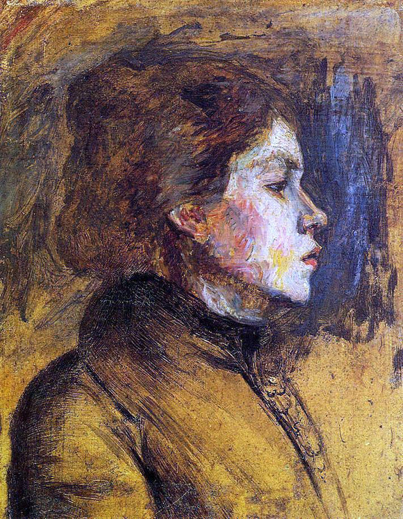 Henri De Toulouse-Lautrec Woman's Head - Canvas Art Print