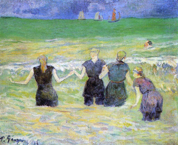 Paul Gauguin Women Bathing, Dieppe - Canvas Art Print