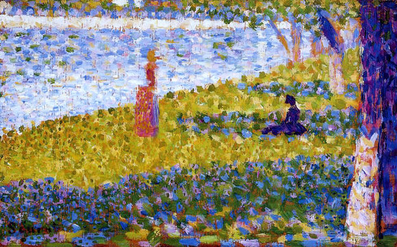 Georges Seurat Women by the Water - Canvas Art Print