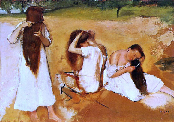 Edgar Degas Women Combing Their Hair - Canvas Art Print