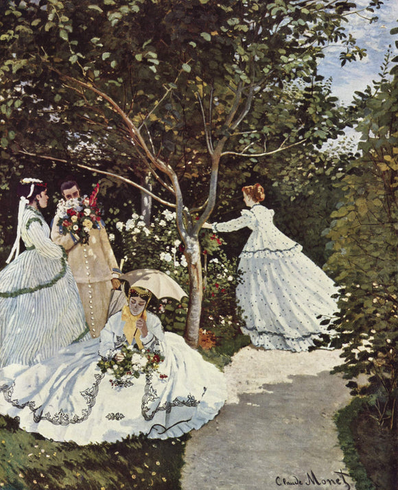 Claude Oscar Monet Women in the Garden - Canvas Art Print