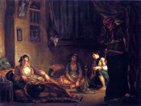 Eugene Delacroix Women of Algiers in Their Apartmente - Canvas Art Print