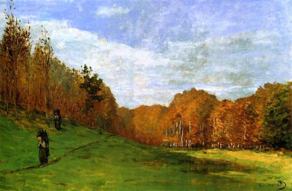 Claude Oscar Monet Woodbearers in Fontainebleau Forest - Canvas Art Print