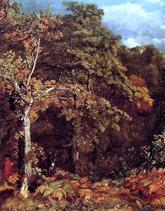 John Constable Wooded Landscape - Canvas Art Print
