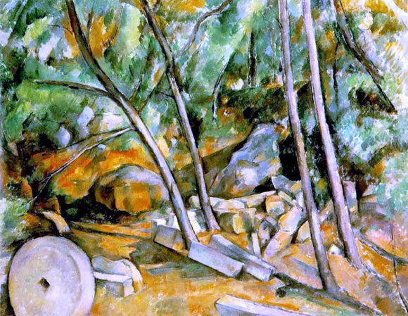 Paul Cezanne Woods with Millstone - Canvas Art Print