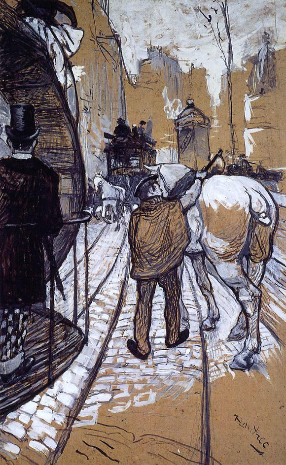 Henri De Toulouse-Lautrec Workers for the Bus Company - Canvas Art Print