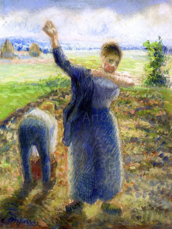 Camille Pissarro Workers in the Fields - Canvas Art Print