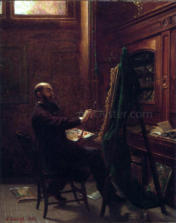 Emanuel Gottlieb Leutze Worthington Whittredge in His Tenth Street Studio - Canvas Art Print