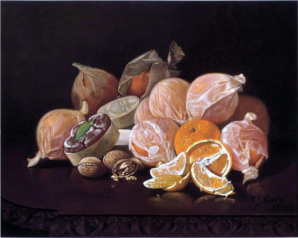 Thomas Sedgwich Steele Wrapped Oranges - Canvas Art Print