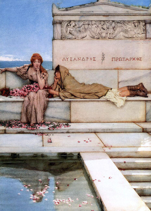 Sir Lawrence Alma-Tadema Xanthe and Phaon - Canvas Art Print